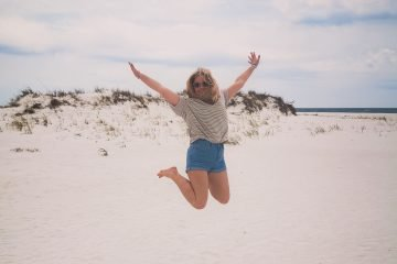 Shell Island Panama City Beach jump sand me