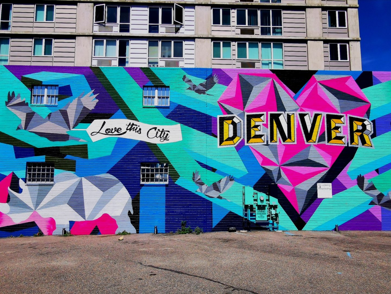 Love this city mural denver RiNo arts district