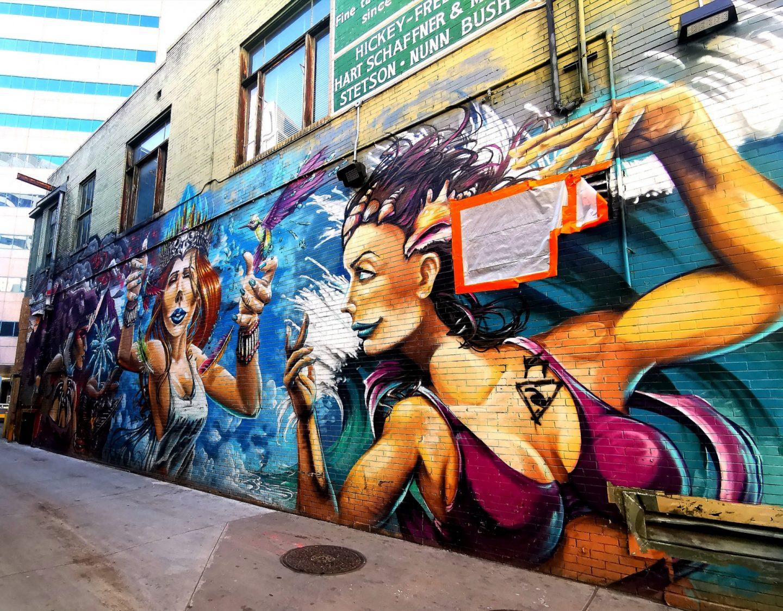 Mural street art downtown Denver