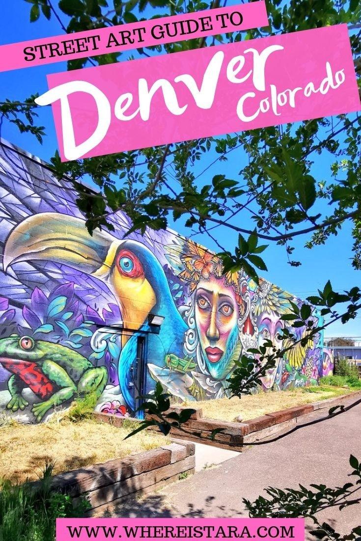 Street art guide denver pin