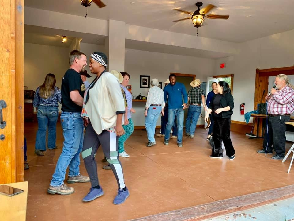Sundance trail guest ranch Colorado square dancing