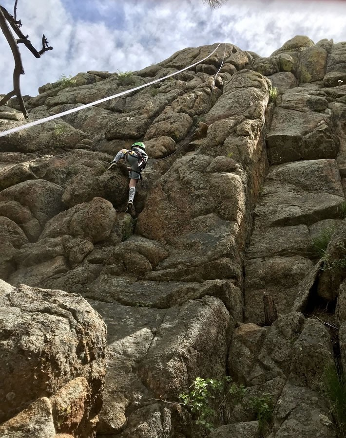rockclimbing at Sundance Trail guest ranch
