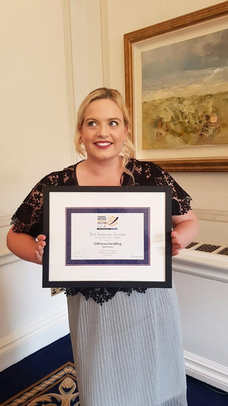 tara povey best Irish Travel Instagrammer award