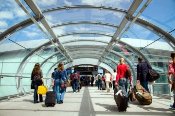 Dublin Airport tips and tricks dublin airport hacks glass tunnel terminal