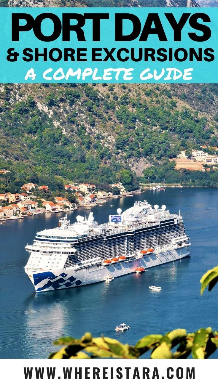 port days and shore excursons princess cruises pin
