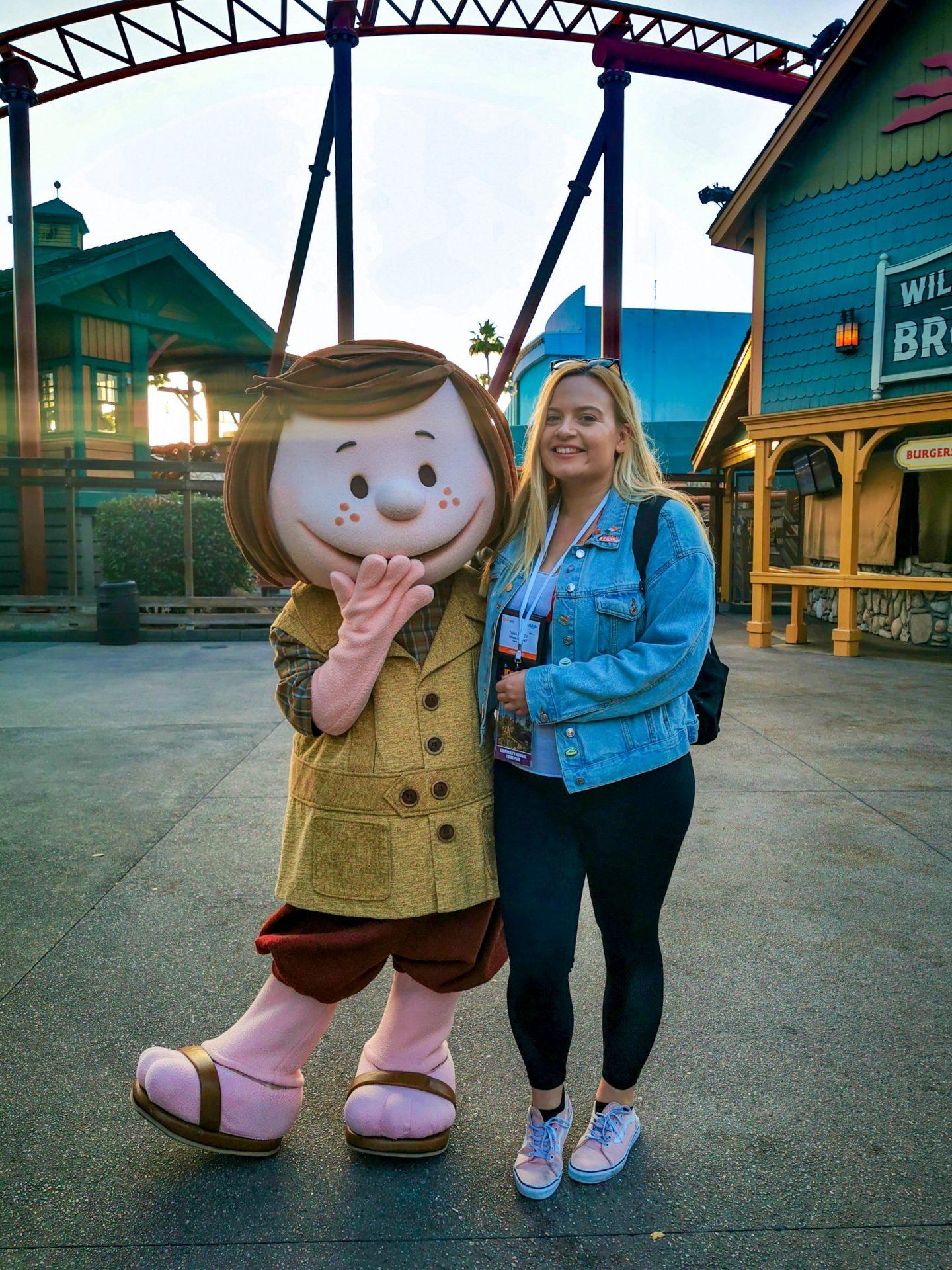 Peppermint Patty Peanuts Knotts Berry Farm Tara Povey 5 days in LA Los Angeles itinerary