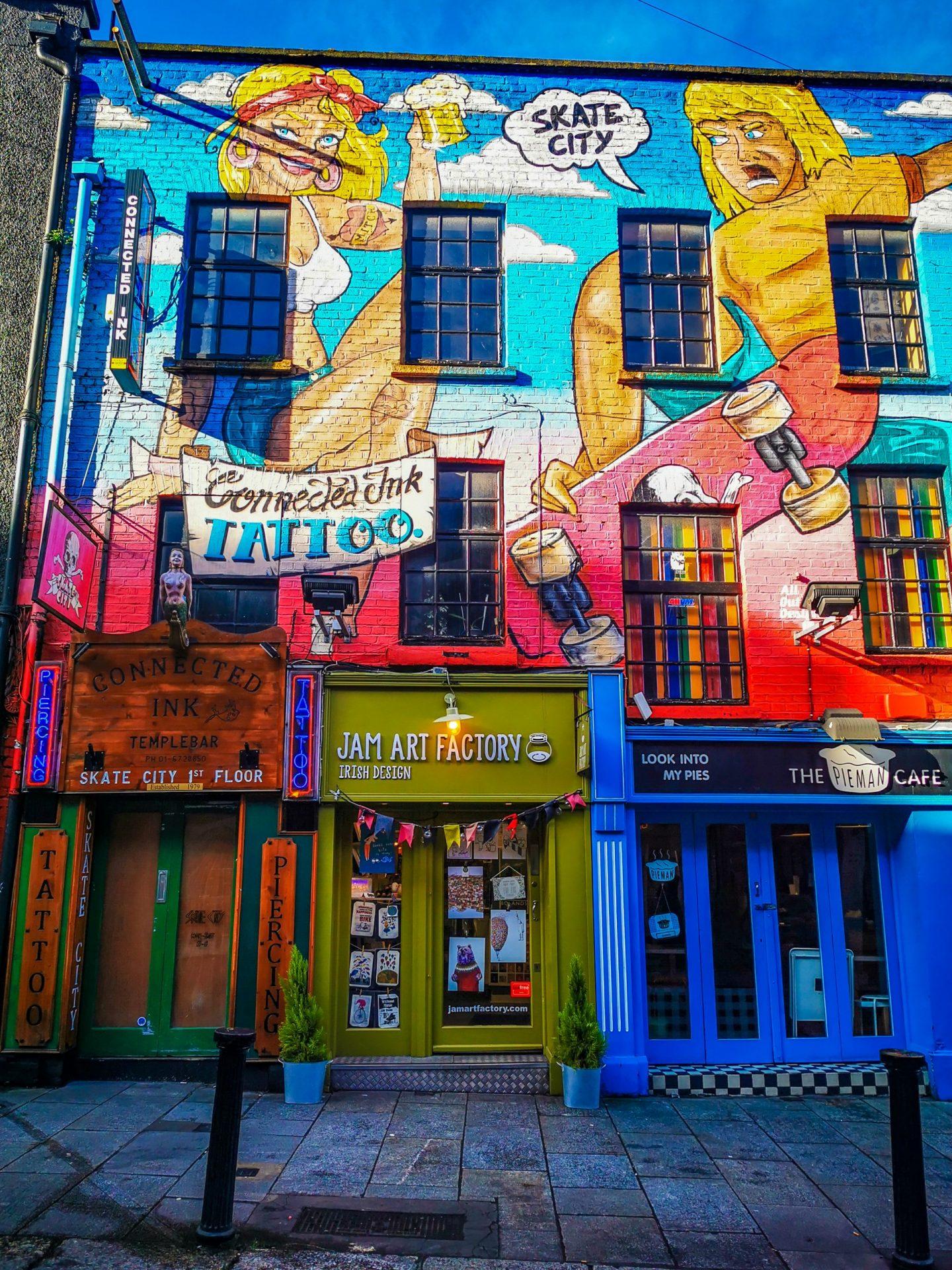 Dublin Temple Bar Jam Art Factory