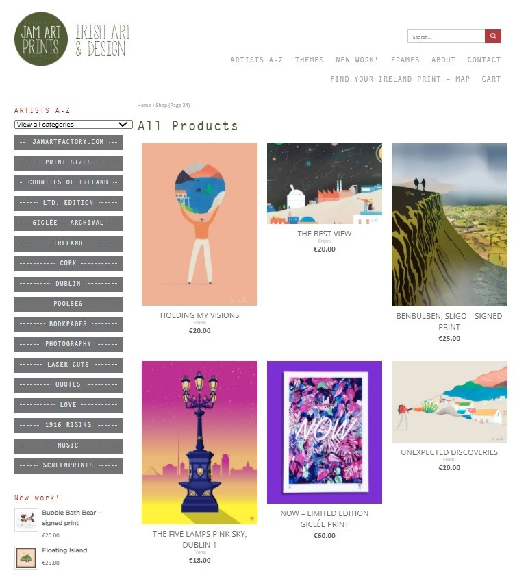 Jam Art Factory site Irish artists