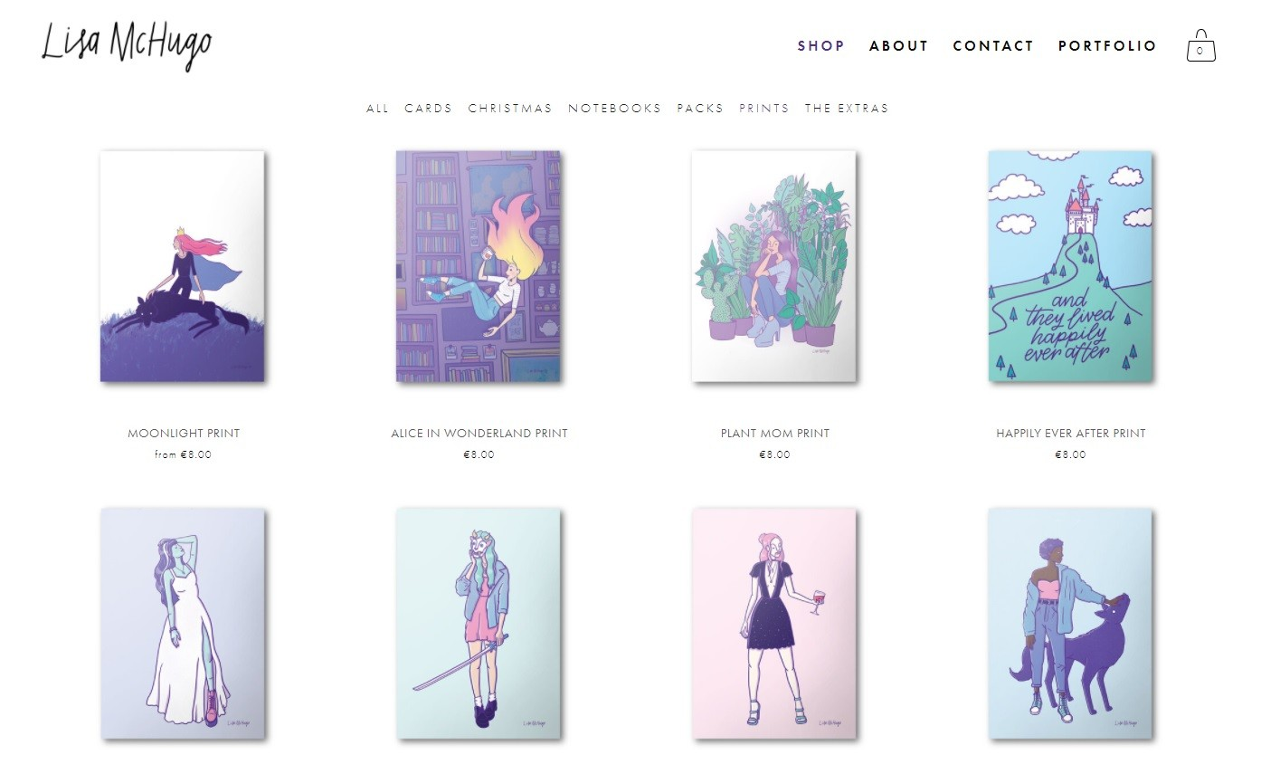 Lisa McHugo Online Shop irish illustrators and irish artists