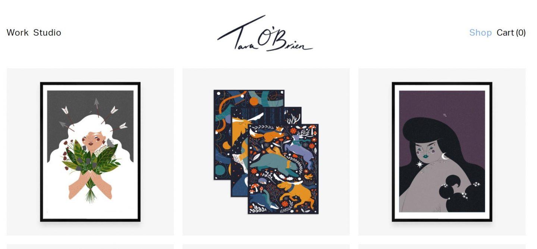 Tara Obrien art homepage the best Irish artists